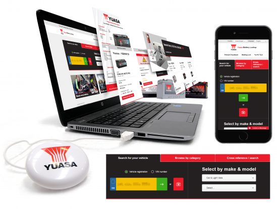 Yuasa launch new, more powerful online battery lookup system at Automechanika