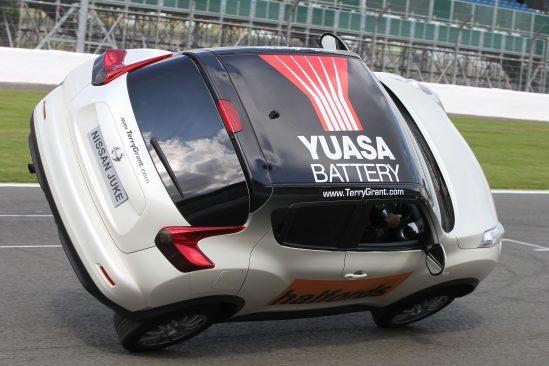 Spectacular Yuasa stunt show gets Halfords revved up