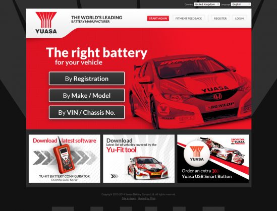 YUASA BATTERY SALES (UK) LTD LAUNCHES ONLINE FITTING SYSTEM FOR AUTOMOTIVE BATTERY RANGE