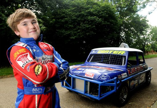 12-year-old karting star and son of drag racing legend Albert Carter lines up for his first car race