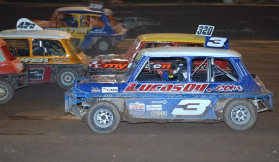 Yuasa supported driver Albert Carter gets his first win in National Ministox