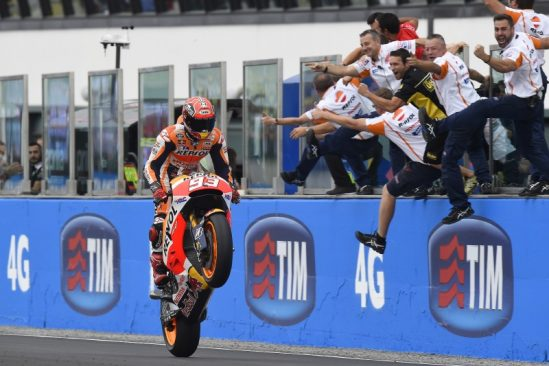 Marquez wins chaotic Misano GP in mixed conditions with Pedrosa 9th – MotoGP