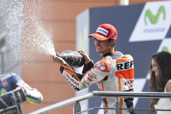 Magnificent second place for Pedrosa after intense battle with Rossi but Marquez crashes out on lap two