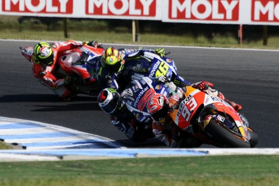 Marquez celebrates 50th career win with sensational final lap, Pedrosa 5th