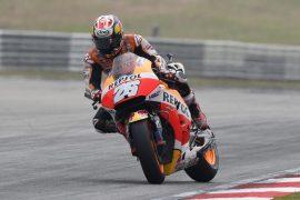 MotoGP Malaysia. Repsol Honda' Dana Pedrosa wins. Yuasa