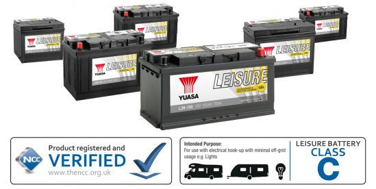 Yuasa and GS Leisure batteries have been given NCC approval