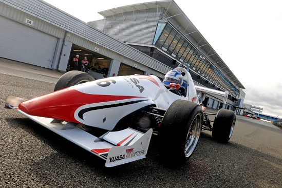 Yuasa Formula Jedi racer Bradley Hobday testing at Silverstone