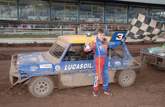 Yuasa driver Albert Carter charged at Belle Vue with triple podium