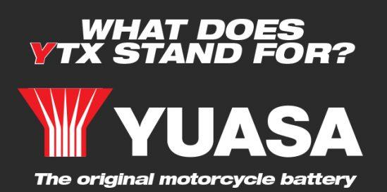 Yuasa YTX batteries