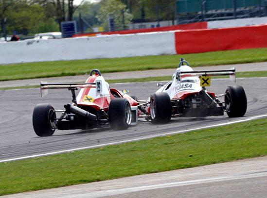 Yuasa Formula Jedi races Bradley Hobday at Silverstone 2016