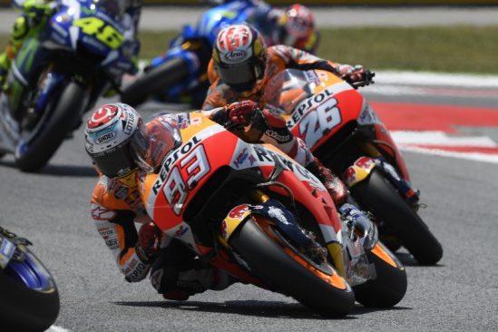 Marquez and Pedrosa achieve emotional MotoGP double podium in home race