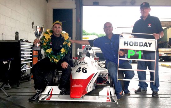 Yuasa Formula Jedi racer Bradley Hobday took his first circuit race win at Brands Hatch