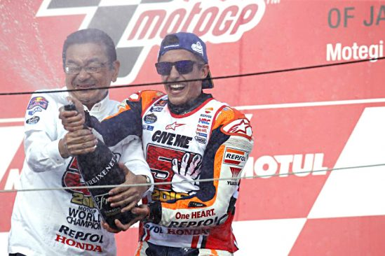 Yuasa celebrate magnificent Marquez's third MotoGP World Championship win