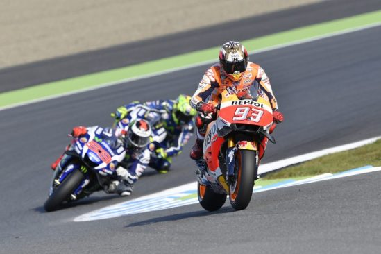 Yuasa Sponsored Repsol Honda rider Marc Marquez wins the 2016 MotoGP World Championship.