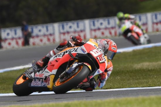 Marquez crashes out of the lead in Australia