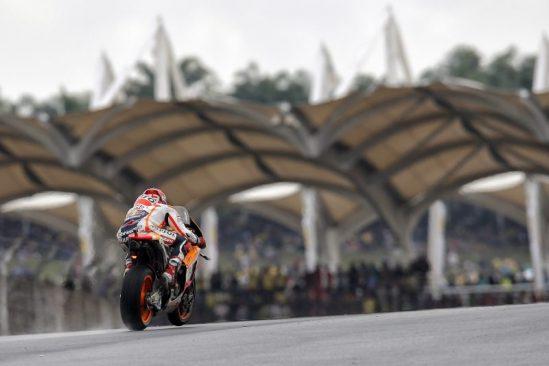 Yuasa sponsored Repsol Honda team rider Marc Maqrquez, Malaysia 2016