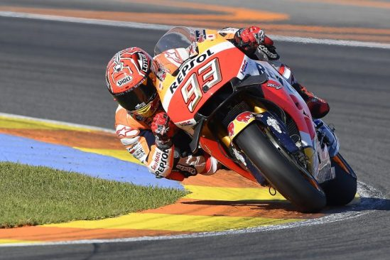 Champion Marquez on podium in Valencia, Pedrosa returns to speed before crashing