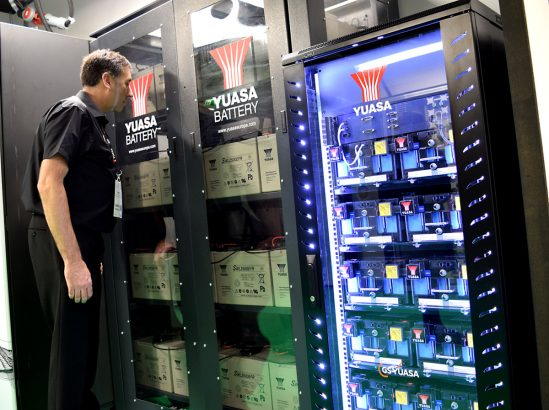 Yuasa showcase latest Lithium-ion UPS  battery technology at Data Centre World
