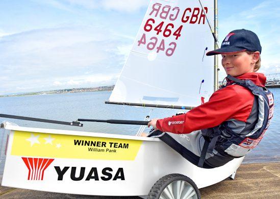 Yuasa Sponsored William Pank - Team GB Optimist Sailor