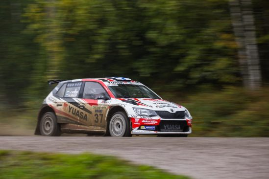 Important mileage and points for Yuasa backed Team Kasing at Uusikaupunki Rally