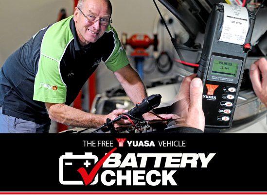 The free Yuasa Vehicle Battery Check