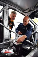 Matt Neal getting his battery tested in BTCC Civic