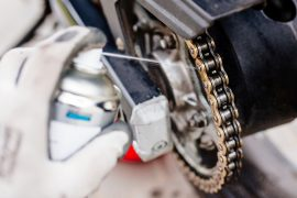 lubricating motorcycle chain