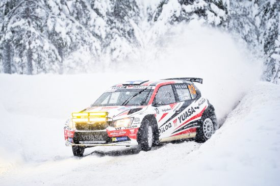 Yuasa's Team Kasing's 2018 season gets underway at Arctic Lapland Rally