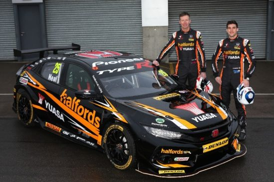 Yuasa gear up for more BTCC success with Halfords Yuasa Racing's new generation Civic Type R