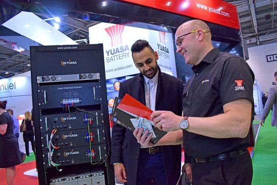 Dual Chemical Battery System takes centre stage on Yuasa Data Centre World stand