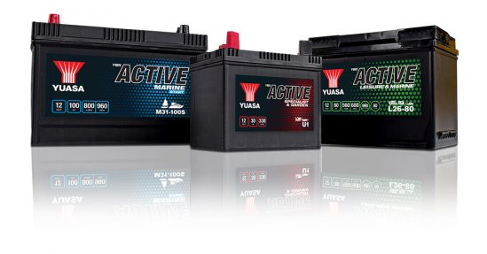 Yuasa launches brand new YBX Active® battery range for leisure, marine, specialist and garden applications