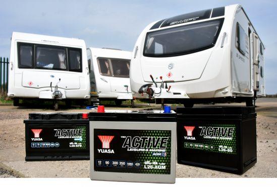Yuasa Active batteries with caravans