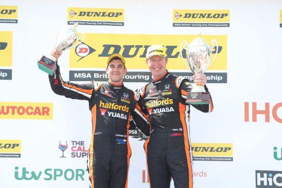 Matt Neal & Dan Cammish on podium