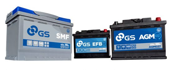 GS Automotive batteries