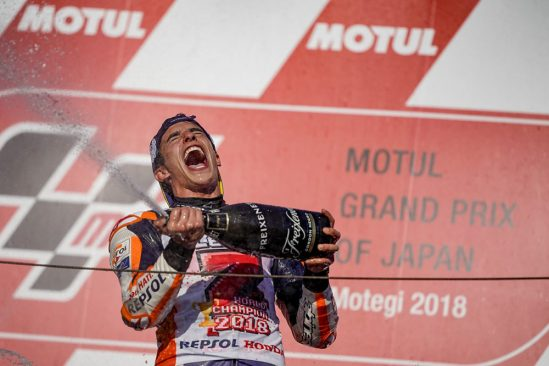 Yuasa celebrate as Marquez makes history by becoming MotoGP world champion for the fifth time