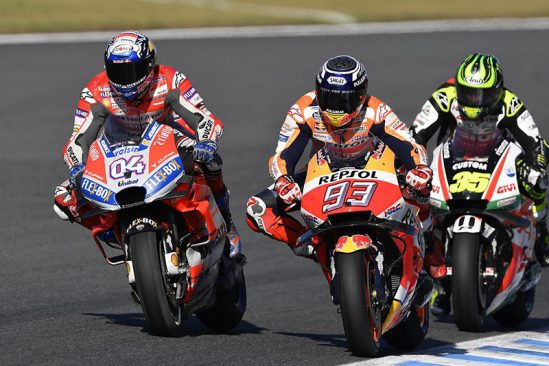 A race-long battle with title contender Andrea Dovizioso and Cal Crutchlow