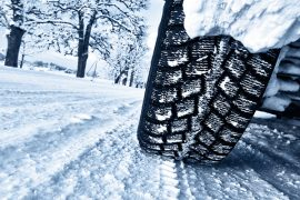 Tyres driving in the snow