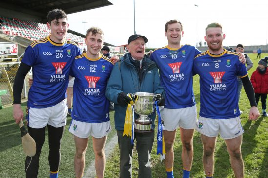 Yuasa sponsor Wicklow Hurling and the first appearance of the new strip sees the team win a league final