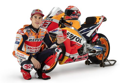 Yuasa revved up for new MotoGP season with Repsol Honda champion riders Marc Marquez and Jorge Lorenzo