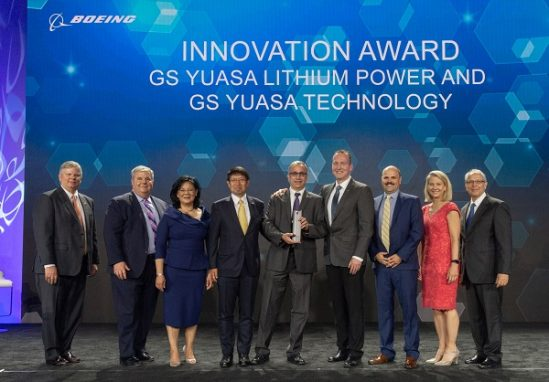 GS Yuasa awarded Boeing Supplier of the Year for innovation