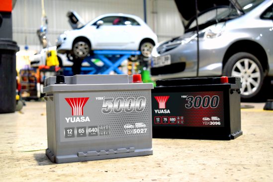 Yuasa batteries in workshop