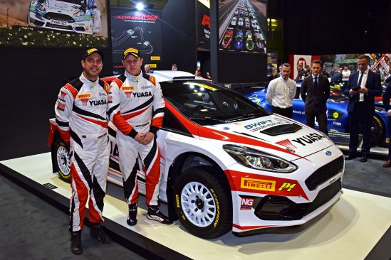 Yuasa power reigning double British Rally Champion Matt Edwards with launch of title sponsorship and new car
