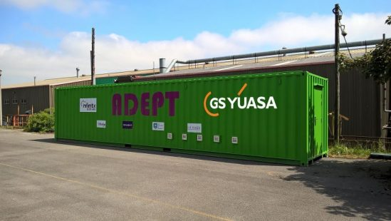 GS Yuasa's containered energy storage solution