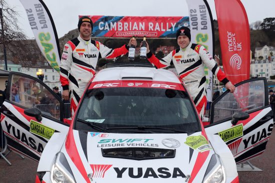 Yuasa star Matt Edwards storms to Cambrian Rally win