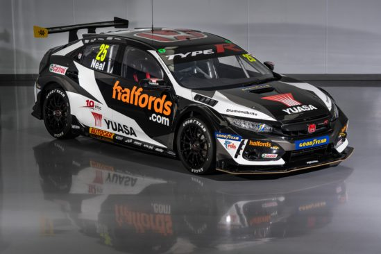 The 2020 Halfords Yuasa Racing Civic Type R.