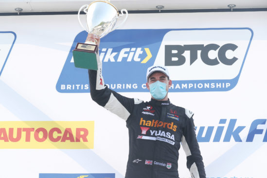 Mixed fortunes for Halfords Yuasa Racing team in Brands BTCC heat