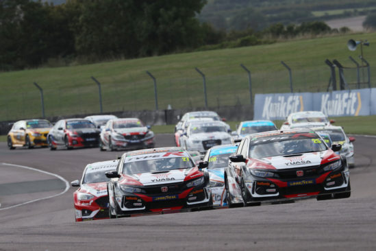 Successful weekend at Thruxton to mark Yuasa's 10 year anniversary in BTCC