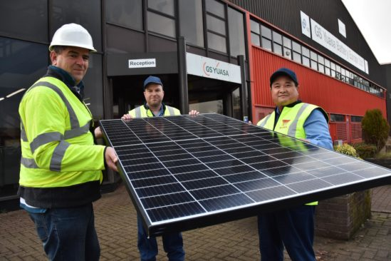 Solar installation begins at GS Yuasa factory in South Wales