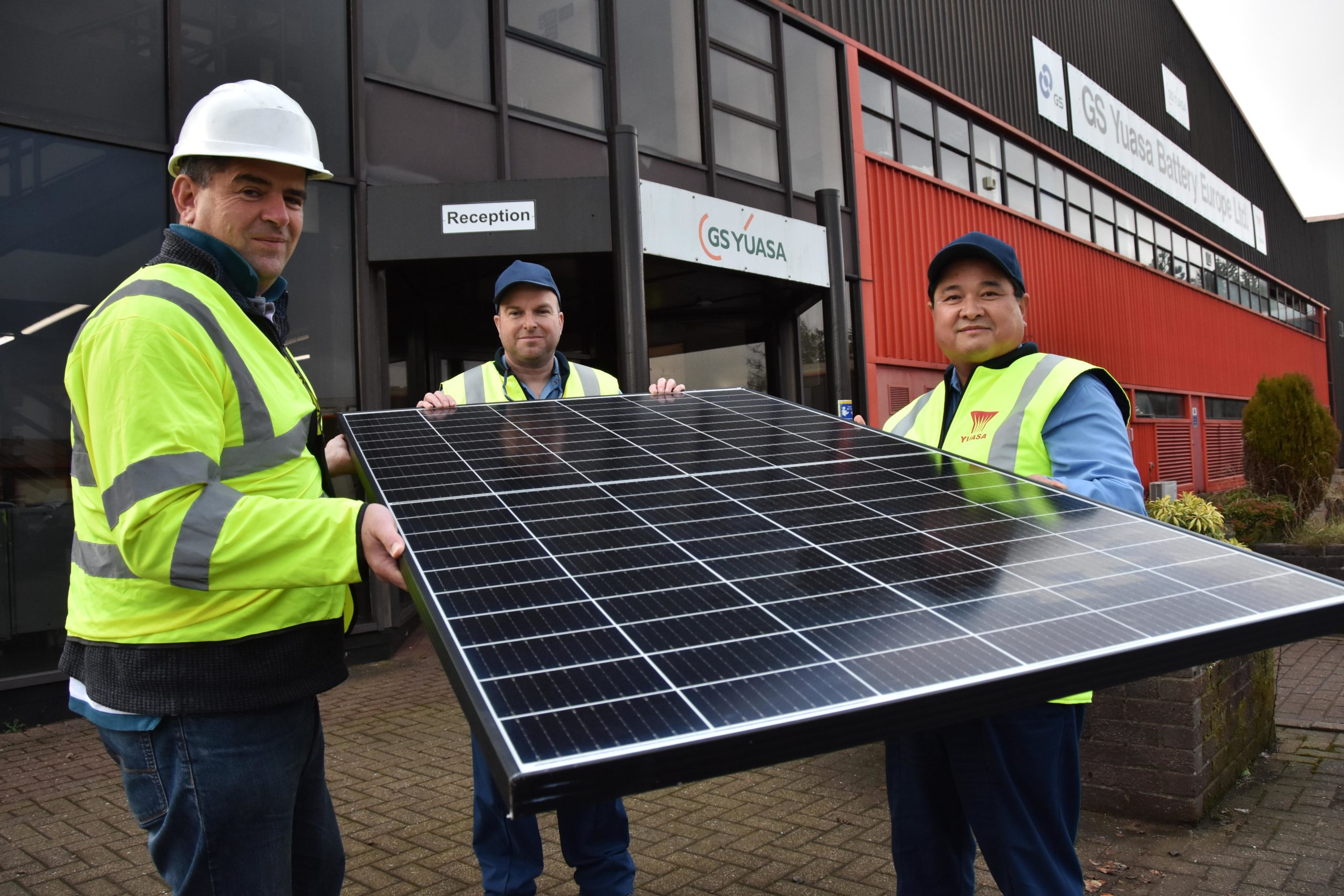 Solar installation begins at GS Yuasa factory in South Wales