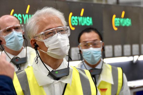 Japanese Ambassador visits GS Yuasa plant to see multi-million pound investment plans
